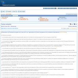 PARLEMENT EUROPEEN 08/03/11 Résolution du Parlement européen du 8 mars 2011 sur l'agriculture de l'Union européenne et le commer