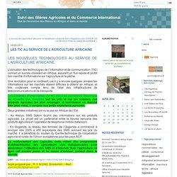 LES TIC AU SERVICE DE L'AGRICULTURE AFRICAINE : Suivi des filières Agricoles et du Commerce International