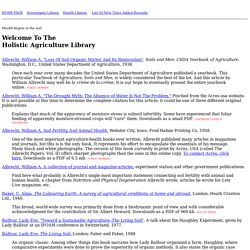 Agriculture Library Index