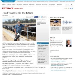 Food waste feeds the future - Agriculture - Livestock