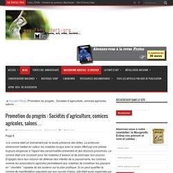 Promotion du progrès : Sociétés d'agriculture, comices agricoles, salons…
