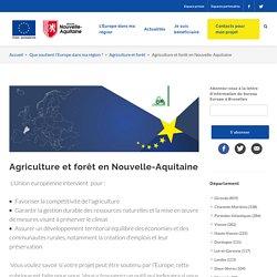 Agriculture et forêt en Nouvelle-Aquitaine