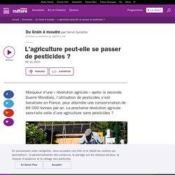 FRANCE CULTURE 09/11/17 DU GRAIN A MOUDRE - L'agriculture peut-elle se passer de pesticides ?