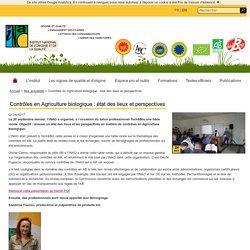 INAO 24/10/17 Contrôles en Agriculture biologique : état des lieux et perspectives