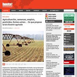 Agriculture bio, semences, emplois, pesticides, fermes usines… Ce que propose la loi d'avenir agricole