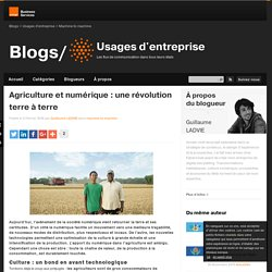 Agriculture et numérique : une révolution terre à terre