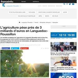 FRANCE 3 LANGUEDOC ROUSSILLON 28/09/15 L'agriculture pèse près de 3 milliards d'euros en Languedoc-Roussillon