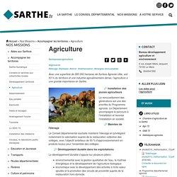 [Département de la Sarthe] - Agriculture