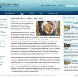 Agriculture and Food Security - Meridian Institute
