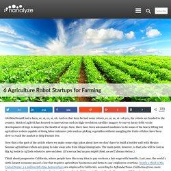 6 Agriculture Robot Startups for Farming