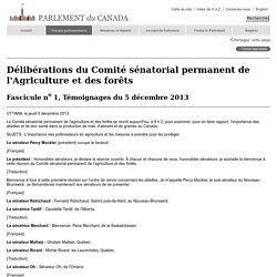 PARLEMENT EU CANADA 05/12/13 L'importance des pollinisateurs en agriculture et les mesures à prendre pour les protéger.