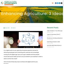 Enhancing Agriculture: 3 Ideas for Digital Transformation.