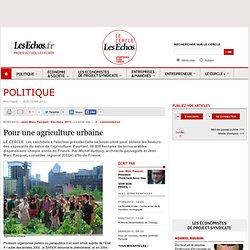 LES ECHOS 02/03/12 Pour une agriculture urbaine