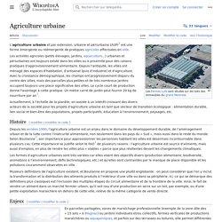 WIKIPEDIA – Agriculture urbaine.