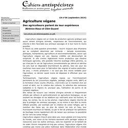 Agriculture végane