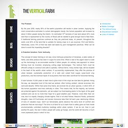 The Vertical Farm Project - Agriculture for the 21st Century and Beyond