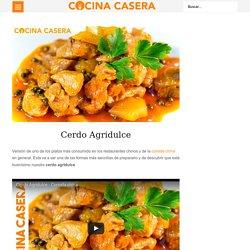 Cerdo Agridulce - Recetas de Cocina Casera - Recetas fáciles y sencillas