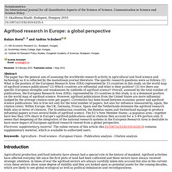 Akadémiai Kiadó, Budapest, Hungary 2010 Agrifood research in Europe: a global perspective