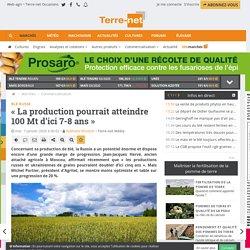 Agritel estime que la production de blé russe sera de 100 Mt d'ici 7-8 ans