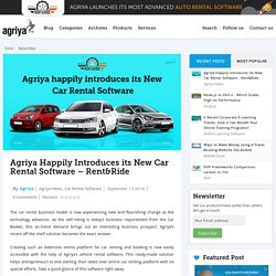 Agriya Introduces New Car Rental Software - Rent&Ride