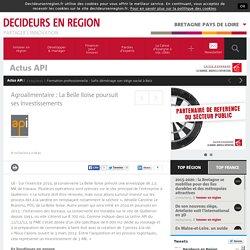 Agroalimentaire : La Belle Iloise poursuit ses investissements / Actus API / Bretagne Pays de Loire / Décideurs en Région