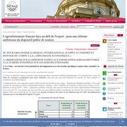 L'agroalimentaire français face au défi de l'export : pour une réforme ambitieuse du dispositif public de soutien