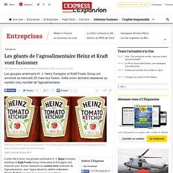 Les géants de l'agroalimentaire Heinz et Kraft vont fusionner - L'Express L'Expansion