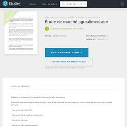 Étude de marché agroalimentaire - Compte Rendu - Mandi5928