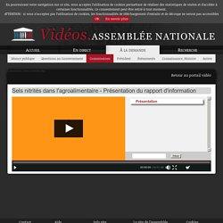ASSEMBLEE NATIONALE 14/01/21 Sels nitrités dans l'agroalimentaire - Présentation du rapport d'information