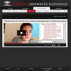 ASSEMBLEE NATIONALE 08/01/21 Utilisation des sels nitrités dans l'industrie agroalimentaire : Audition de représentants de la Confédération Nationale des Charcutiers Traiteurs et Traiteurs (CNCT).