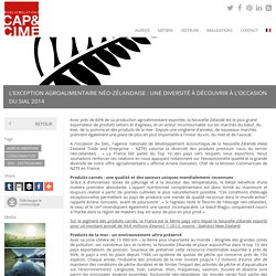 L'exception agroalimentaire néo-zélandaise : une diversité à découvrir à l'occasion du SIAL 2014 - Cap & Cime PR, relations médias, relations publics, agence de relations presse