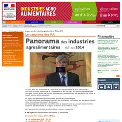 Le panorama des industries agroalimentaires - Edition 2014