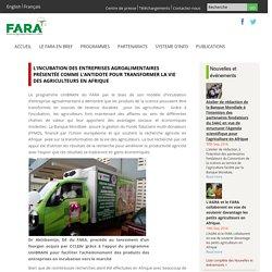 L'incubation des entreprises agroalimentaires présentée comme l'antidote pour transformer la vie des agriculteurs en Afrique