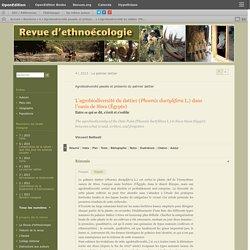 CNRS UMR 7206 03/07/13 L'agrobiodiversité du dattier (Phœnix dactylifera L.) dans l'oasis de Siwa (Égypte) : entre ce qui se dit, s'écrit et s'oublie