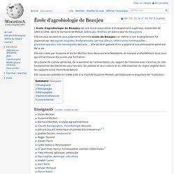 École d'agrobiologie de Beaujeu