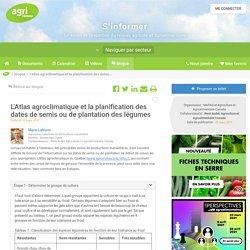L'Atlas agroclimatique et la planification des dates de semis ou de plantatio...