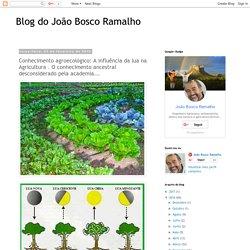 Blog do João Bosco Ramalho: Conhecimento agroecológico: A influência da lua na Agricultura . O conhecimento ancestral desconsiderado pela academia...