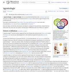 Agroécologie - Wikipédia