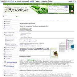 Agroécologie et politique