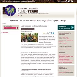 ALIMENTERRE - 2014 - L'agroécologie peut nourrir le monde