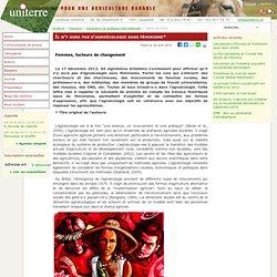 UNITERRE - Il n'y aura pas d'agroécologie sans féminisme*