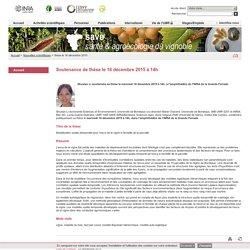 INRA BORDEAUX 16/12/15 Thèse soutenue le 16/12/15 : Modélisation spatio-temporelle pour l'esca de la vigne à l'échelle de la parcelle