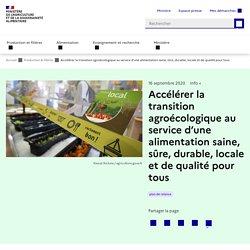 Accélérer la transition agroécologique au service d'une alimentation saine, sûre, durable, locale et de qualité pour tous