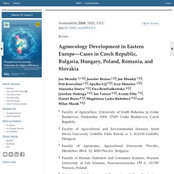 Sustainability 2018, 10(5), 1311; Agroecology Development in Eastern Europe—Cases in Czech Republic, Bulgaria, Hungary, Poland, Romania, and Slovakia