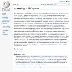 Agroecology in Madagascar