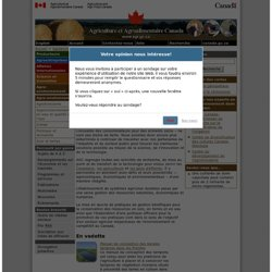 AGRICULTURE CANADA 17/12/12 Agroenvironnement