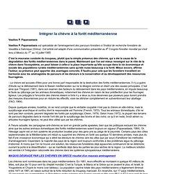 Unasylva - No. 154 - Les voies de l'agroforesterie - Intégrer la chèvre à la forêt méditerranéenne