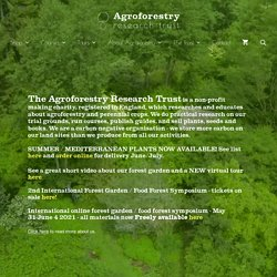 Agroforestry research trust fruits nuts seeds plants publications