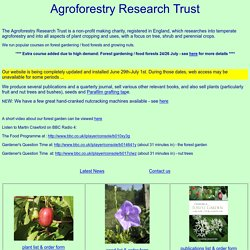 Agroforestry research trust