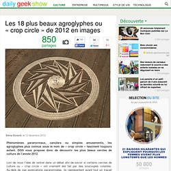 Les 18 plus beaux agroglyphes ou « crop circle » de 2012 en images
